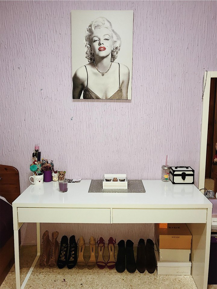 My desk ... and more shoes
